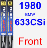 Front Wiper Blade Pack for 1980 BMW 633CSi - Vision Saver