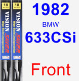 Front Wiper Blade Pack for 1982 BMW 633CSi - Vision Saver