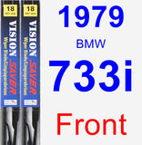 Front Wiper Blade Pack for 1979 BMW 733i - Vision Saver