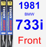 Front Wiper Blade Pack for 1981 BMW 733i - Vision Saver
