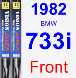 Front Wiper Blade Pack for 1982 BMW 733i - Vision Saver