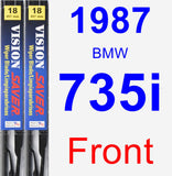 Front Wiper Blade Pack for 1987 BMW 735i - Vision Saver