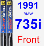 Front Wiper Blade Pack for 1991 BMW 735i - Vision Saver