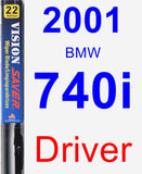 Driver Wiper Blade for 2001 BMW 740i - Vision Saver