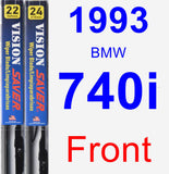 Front Wiper Blade Pack for 1993 BMW 740i - Vision Saver