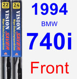 Front Wiper Blade Pack for 1994 BMW 740i - Vision Saver