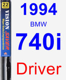 Driver Wiper Blade for 1994 BMW 740i - Vision Saver