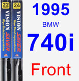 Front Wiper Blade Pack for 1995 BMW 740i - Vision Saver