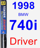Driver Wiper Blade for 1998 BMW 740i - Vision Saver