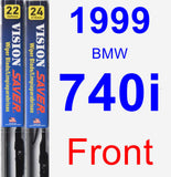 Front Wiper Blade Pack for 1999 BMW 740i - Vision Saver