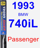 Passenger Wiper Blade for 1993 BMW 740iL - Vision Saver