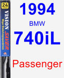 Passenger Wiper Blade for 1994 BMW 740iL - Vision Saver