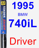 Driver Wiper Blade for 1995 BMW 740iL - Vision Saver