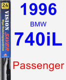 Passenger Wiper Blade for 1996 BMW 740iL - Vision Saver