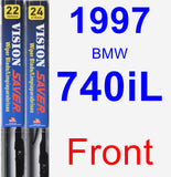 Front Wiper Blade Pack for 1997 BMW 740iL - Vision Saver