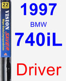Driver Wiper Blade for 1997 BMW 740iL - Vision Saver