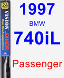 Passenger Wiper Blade for 1997 BMW 740iL - Vision Saver