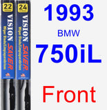 Front Wiper Blade Pack for 1993 BMW 750iL - Vision Saver