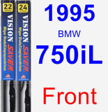 Front Wiper Blade Pack for 1995 BMW 750iL - Vision Saver