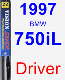 Driver Wiper Blade for 1997 BMW 750iL - Vision Saver