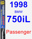 Passenger Wiper Blade for 1998 BMW 750iL - Vision Saver