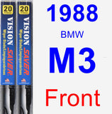 Front Wiper Blade Pack for 1988 BMW M3 - Vision Saver