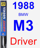 Driver Wiper Blade for 1988 BMW M3 - Vision Saver