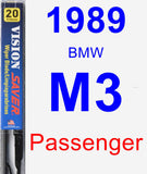 Passenger Wiper Blade for 1989 BMW M3 - Vision Saver