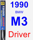 Driver Wiper Blade for 1990 BMW M3 - Vision Saver