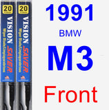 Front Wiper Blade Pack for 1991 BMW M3 - Vision Saver