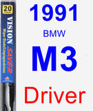 Driver Wiper Blade for 1991 BMW M3 - Vision Saver