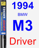 Driver Wiper Blade for 1994 BMW M3 - Vision Saver