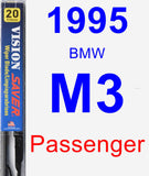 Passenger Wiper Blade for 1995 BMW M3 - Vision Saver