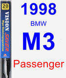 Passenger Wiper Blade for 1998 BMW M3 - Vision Saver