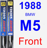 Front Wiper Blade Pack for 1988 BMW M5 - Vision Saver