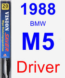 Driver Wiper Blade for 1988 BMW M5 - Vision Saver