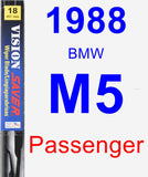Passenger Wiper Blade for 1988 BMW M5 - Vision Saver