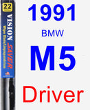 Driver Wiper Blade for 1991 BMW M5 - Vision Saver