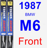 Front Wiper Blade Pack for 1987 BMW M6 - Vision Saver