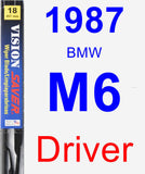 Driver Wiper Blade for 1987 BMW M6 - Vision Saver