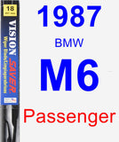Passenger Wiper Blade for 1987 BMW M6 - Vision Saver