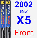 Front Wiper Blade Pack for 2002 BMW X5 - Vision Saver