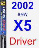 Driver Wiper Blade for 2002 BMW X5 - Vision Saver