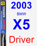 Driver Wiper Blade for 2003 BMW X5 - Vision Saver