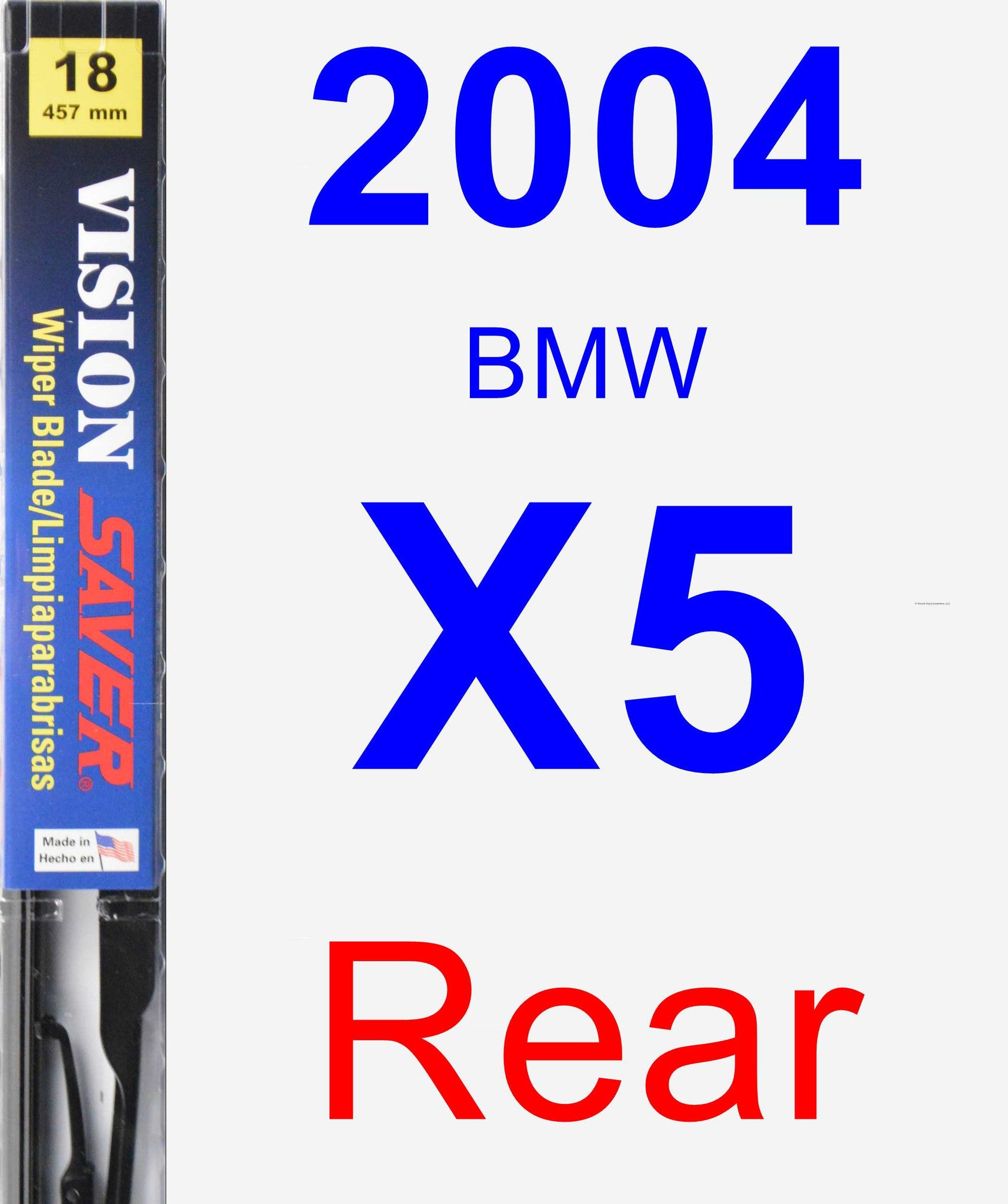 Rear Wiper Blade for 2004 BMW X5 - Vision Saver