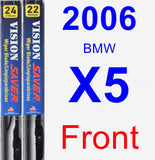 Front Wiper Blade Pack for 2006 BMW X5 - Vision Saver