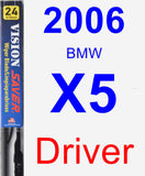 Driver Wiper Blade for 2006 BMW X5 - Vision Saver