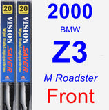 Front Wiper Blade Pack for 2000 BMW Z3 - Vision Saver