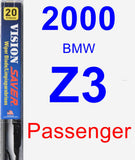 Passenger Wiper Blade for 2000 BMW Z3 - Vision Saver