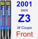 Front Wiper Blade Pack for 2001 BMW Z3 - Vision Saver